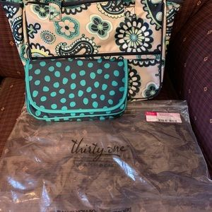 Thirty one True Beauty Bag Set in Paisley Day. NWT
